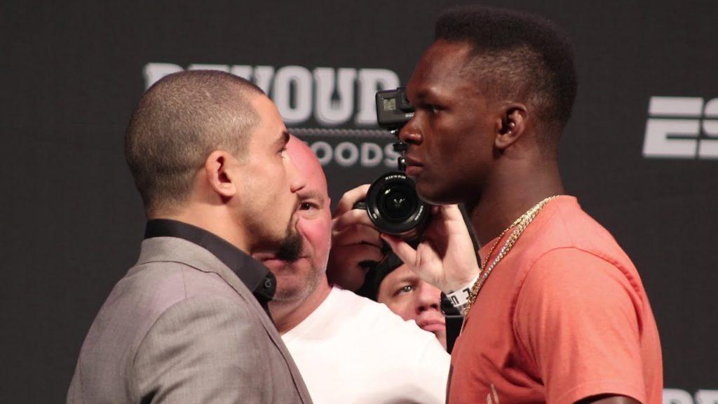 UFC 243 -  Sguardi intensi durante la promozione dell'evento