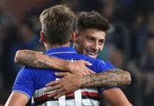 Ramirez di testa su assist di Rigoni salva la Sampdoria al 92°; Sampdoria-Lecce 1-1.