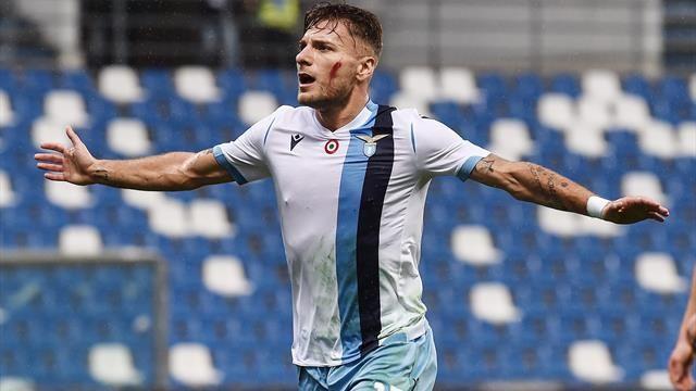 Ciro Immobile sigla il gol numero 15 in campionato Lazio 3 punti e terzo posto in classifica. Sassuolo Lazio