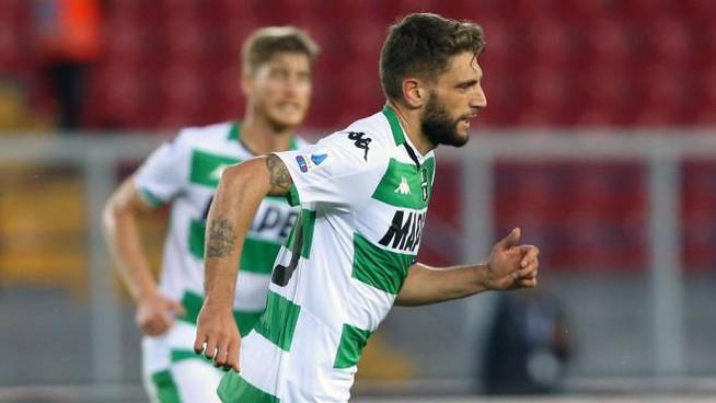 il protagonista del pareggio degli emiliani, Domenico Berardi Lecce Sassuolo 2-2 ed un punto per parte