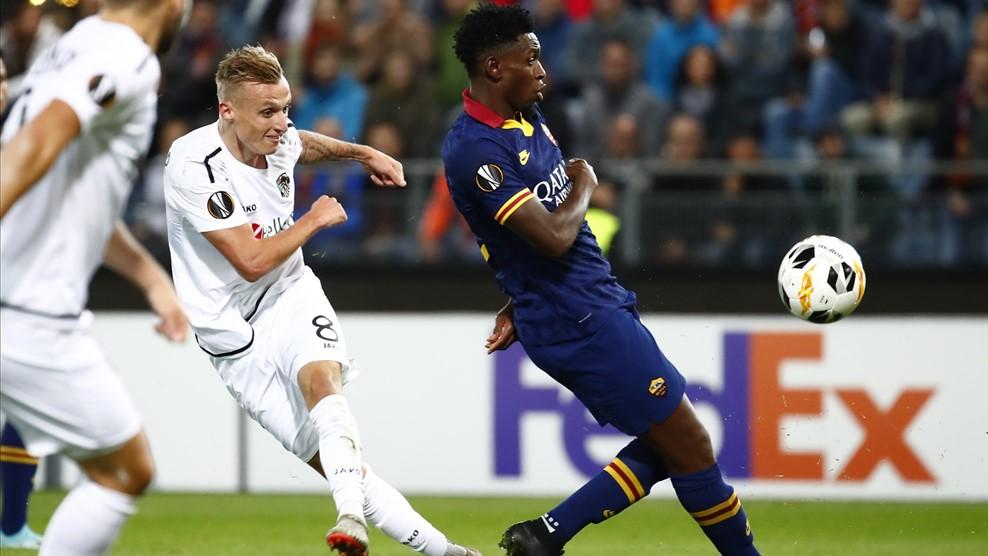 Azioni di gioco del match tra Wolfsberg e Roma