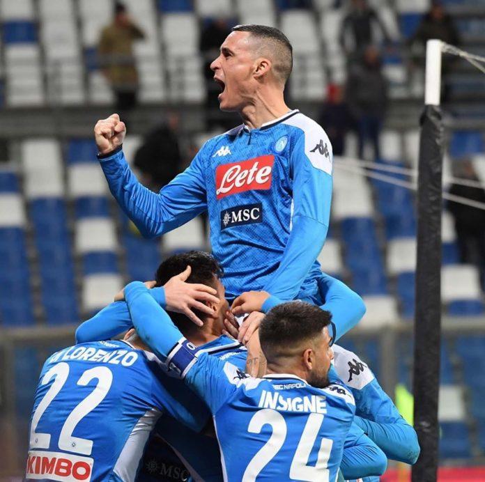 Il Napoli risorge dalle ceneri: vittoria al 94' contro il Sassuolo