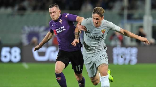 Avversari nell'ultimo incrocio tra Fiorentina e Roma, venerdì saranno dalla stessa parte; Zaniolo e Veretout