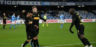 Napoli-Inter 1-3, Lukaku risponde a Ronaldo