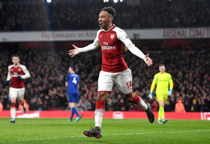 Pierre-Emerick Aubameyang attaccante dell'Arsenal