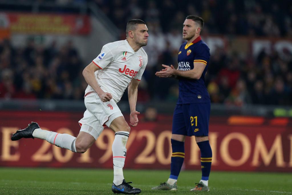 Demiral esulta per il gol del vantaggio bianconero