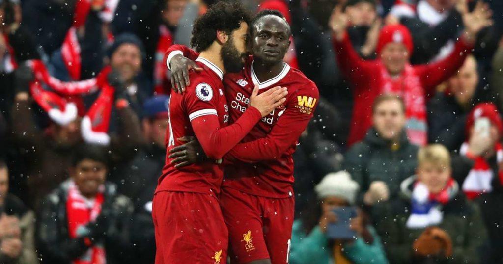 Mohamed Salah, Sadio Mané, West Ham-Liverpool