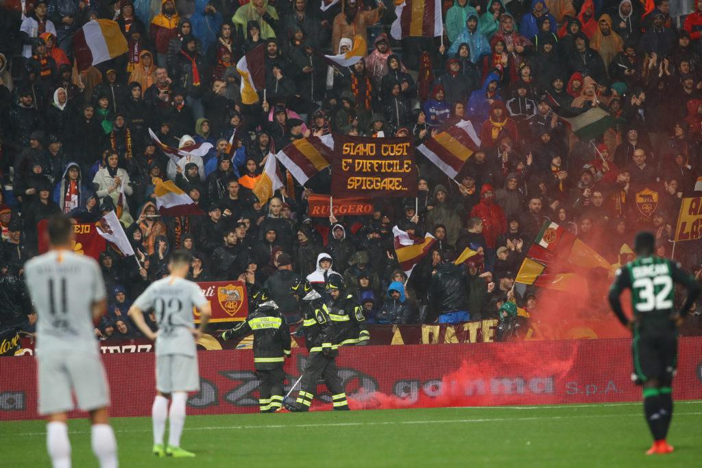Contestazione nell'ultimo Sassuolo Roma finito 0-0