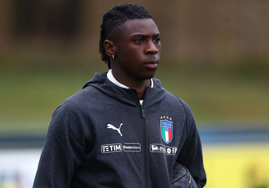 Moise kean, con la maglia della nazionale italiana