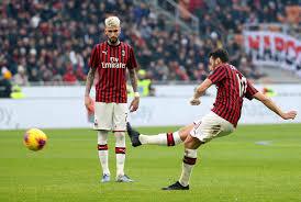 La punizione di Calhanoglu che regala il pari al Milan complice una deviazione; Milan-Verona 1-1.