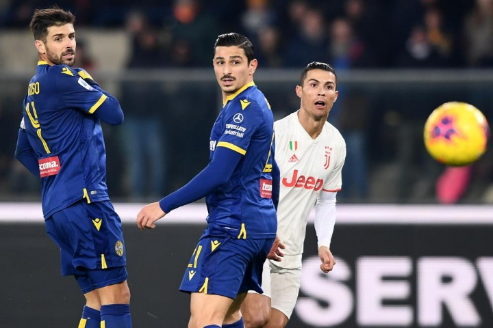 Un'immagine di Verona-Juventus al Bentegodi.