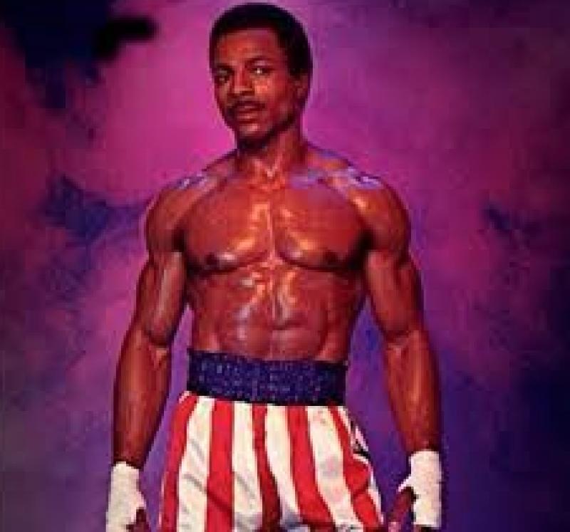 Apollo Creed, il rivale di Rocky Balboa, interpretato da Carl Weathers.