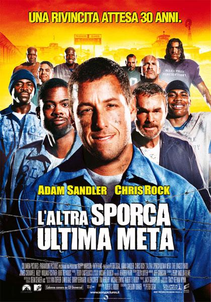 "La locandina de ""L'altra sporca ultima meta"", con Adam Sandler nel ruolo di Paul Crewe."