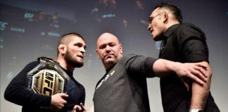 UFC - faccia a faccia tra Khabib e Tony