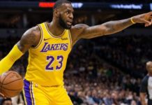 Lebron James dei Los Angeles Lakers