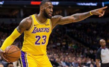 Lebron James dei Los Angeles Lakers