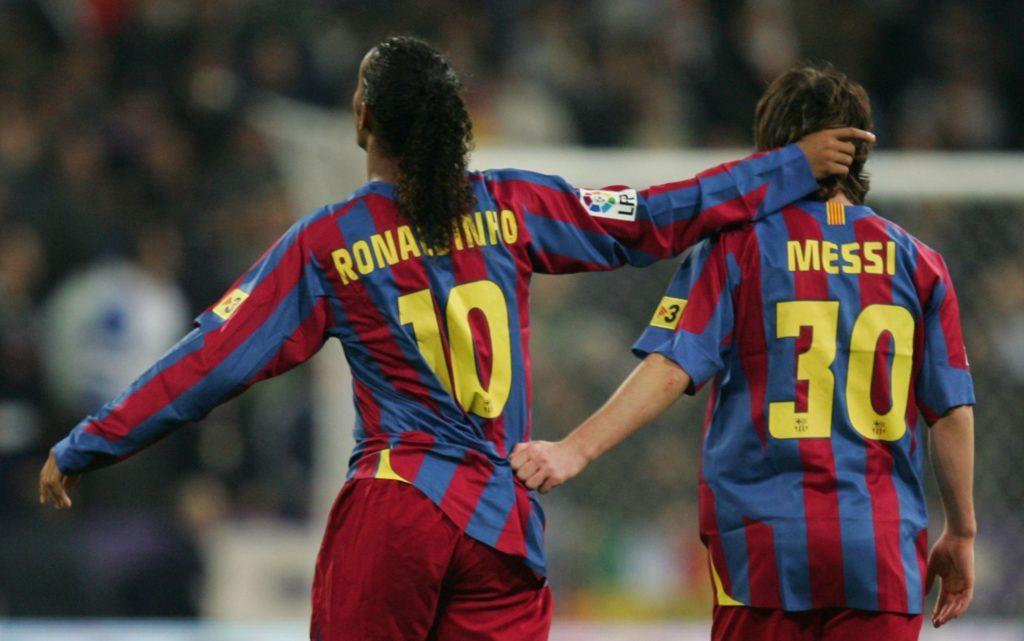 Ronaldinho e Lionel Messi