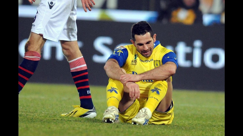 Chievo Verona, l'infortunio alla caviglia di Sergio Pellissier