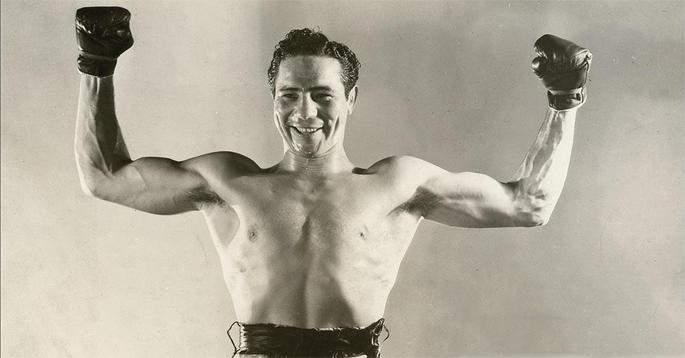 Max Baer, avversario di Braddock nella finale dei pesi massimi, del 1935, al Madison Square Garden.