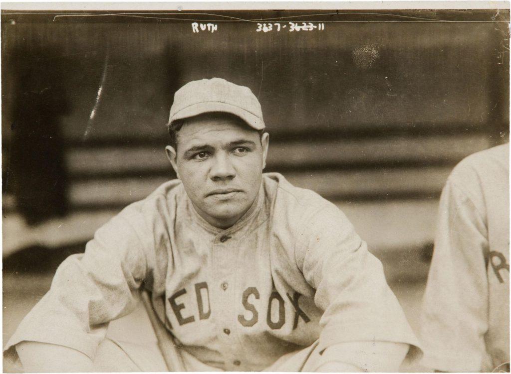 Babe Ruth con i New York Yankees.