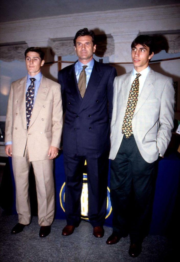 Javier Zanetti e Giacinto Facchetti