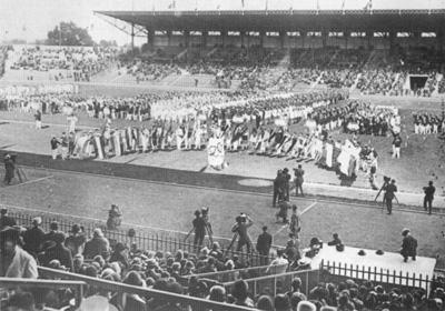 Lo Stadio Olimpico di Colombes.
