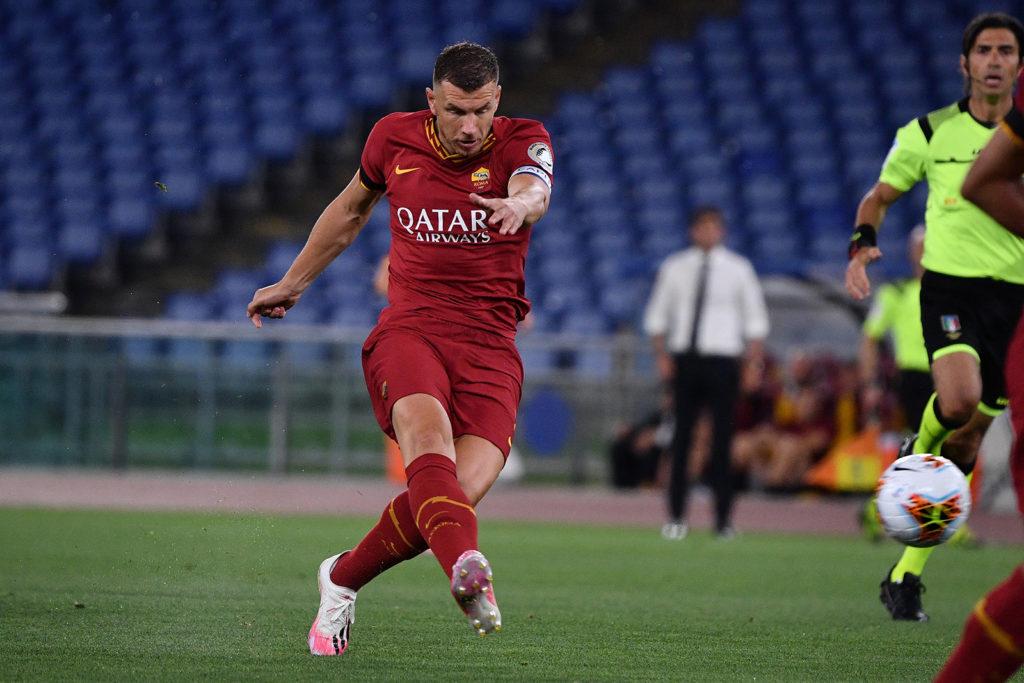 Roma-Sampdoria 2-1. Dzeko.