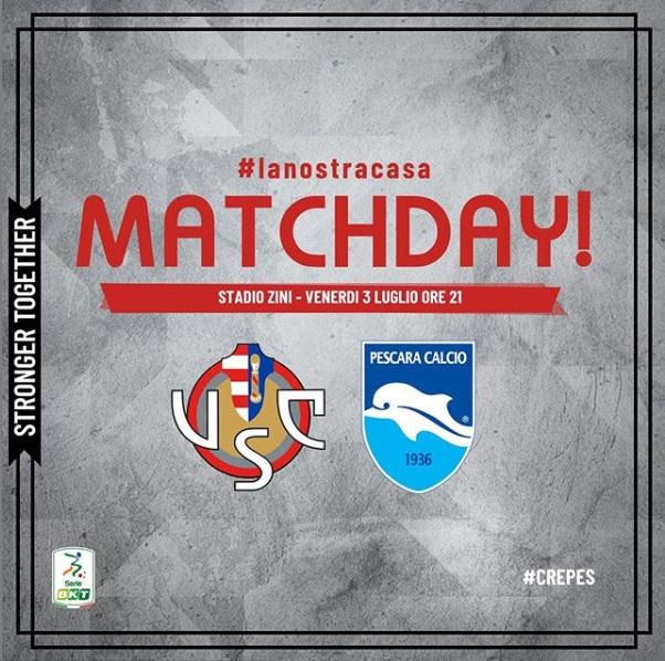 Nel primo match di luglio la Cremonese ha battuto 1-0 il Pescara.