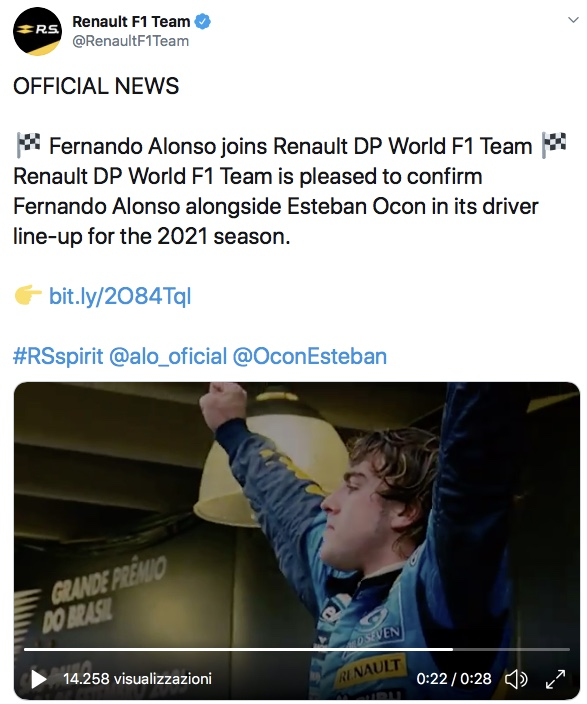 Alonso torna in Renault!