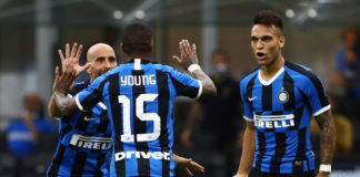 Inter - Torino, Borja Valero, Ashley Young e Lautaro Martinez