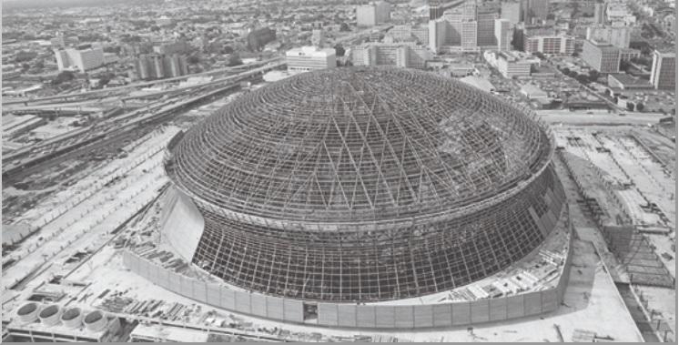 Superdome in costruzione