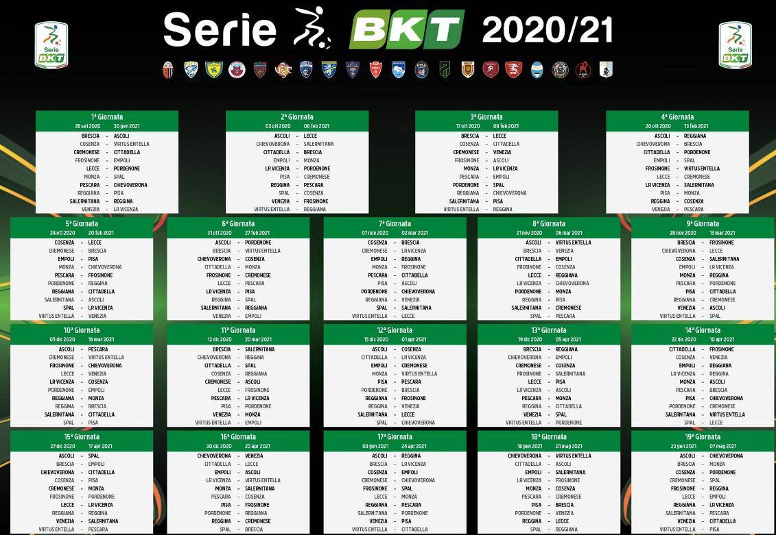 Calendario Serie B: Si parte con il big match Monza Spal