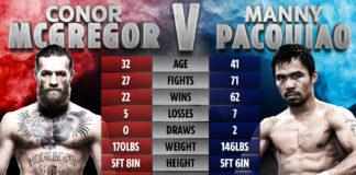 McGregor vs Pacquiao