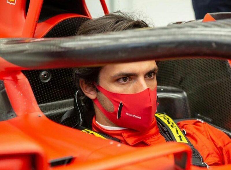 Sainz   il suo primo giorno in Ferrari