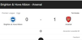 Brighton & HA - Arsenal