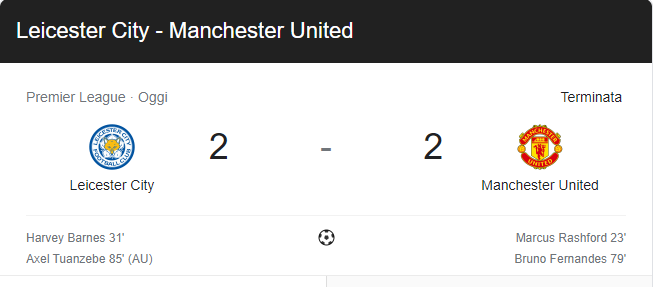 Leicester City - Manchester United