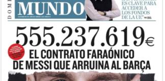 Barcellona, El Mundo lancia la bomba: svelato il contratto di Messi
