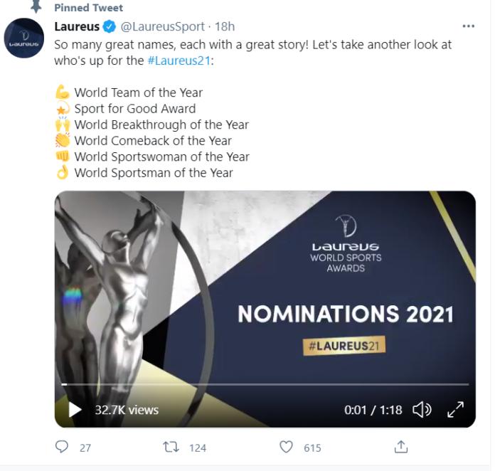 laureus world sport Award