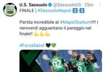Sassuolo-Napoli 3-3