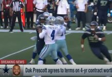 Prescott rinnova con i Cowboys