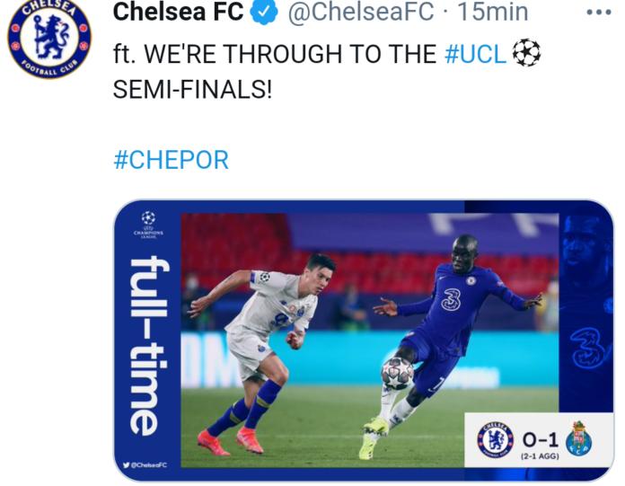 Chelsea-Porto 0-1