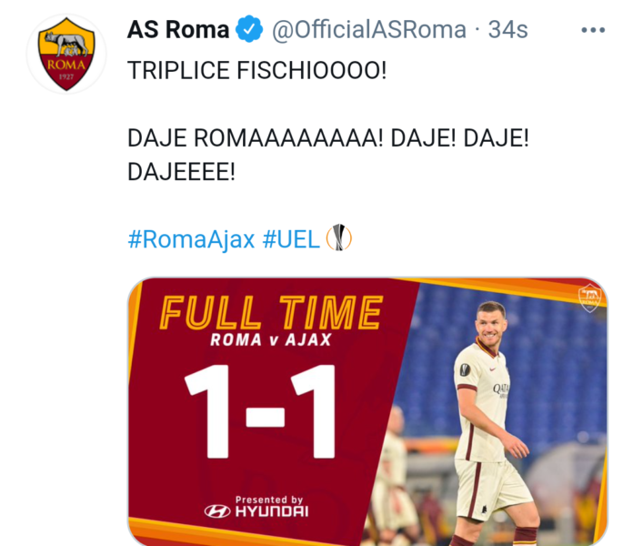 Roma-Ajax 1-1