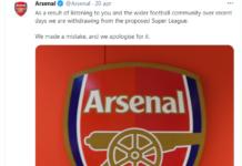 Arsenal nel caos dopo la fine della Superlega