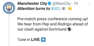 Dichiarazioni pre City-Borussia Dortmund