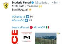 Dichiarazioni Ferrari post Gp Emilia-Romagna