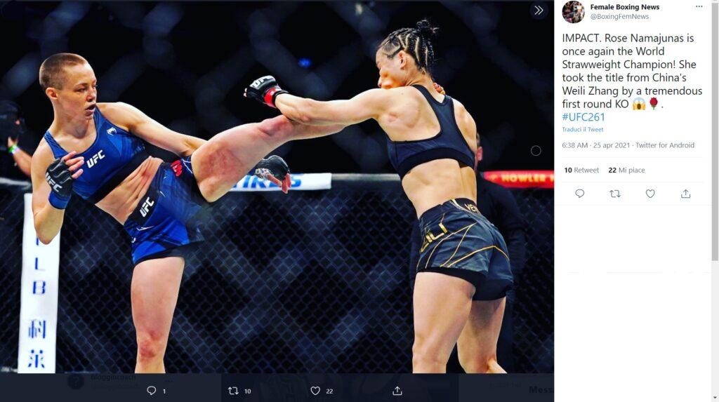 UFC - il meglio di Aprile 2021 -Rose Namajunas