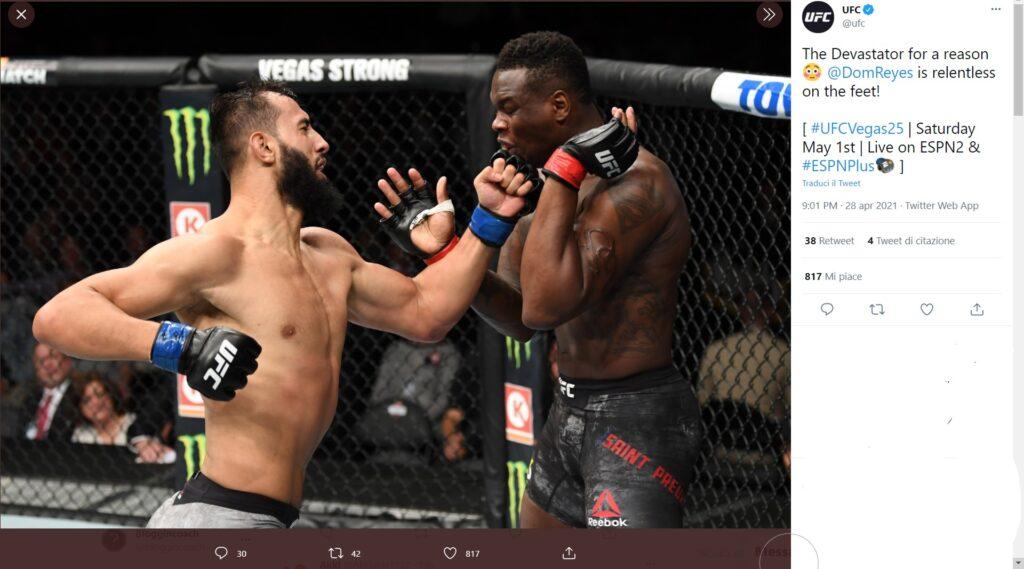 UFC on ESPN 23 - Anteprima - Dominick Reyes