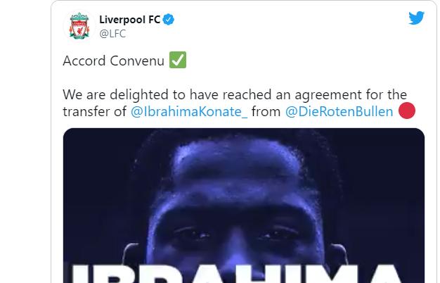 Konatè al Liverpool