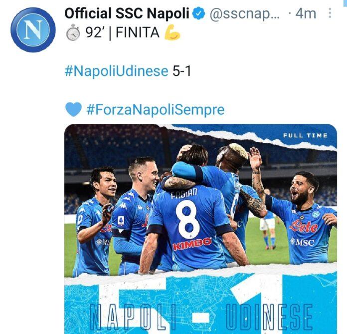 Napoli-Udinese 5-1