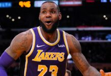Mascherina di LeBron James NBA